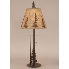 """Rustic Living Iron 29.5"""" H Table Lamp with Empire Shade"""