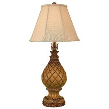 """Casual Living Pineapple Pot 33"""" H Table Lamp with Empire Shade"""