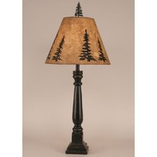 """Rustic Living Square Buffet 32"""" H Table Lamp with Empire Shade"""