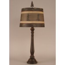 """Rustic Living Round Buffet 32"""" H Table Lamp with Empire Shade"""