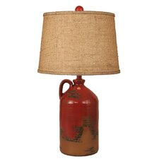"""Handle Pottery Jug 27.5"""" H Table Lamp with Drum Shade"""
