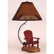 """Fly Rod Adirondack Chair 27.5"""" H Table Lamp with Empire Shade"""