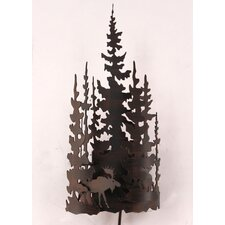 Moose and Tree 1 Light Wall Sconce