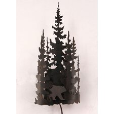 Bear and Tree 1 Light Wall Sconce