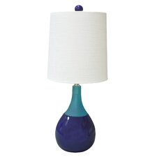"""Graphic Appeal Malibu 21"""" H Table Lamp with Empire Shade"""