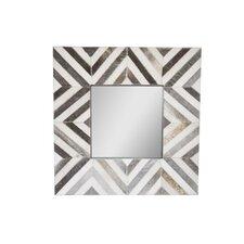Shimmering Silver Square Palisades Wall Mirror