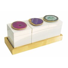 Bel Air Boxes on Tray Set