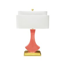 """Bellaria 30"""" H Table Lamp with Oval Shade"""