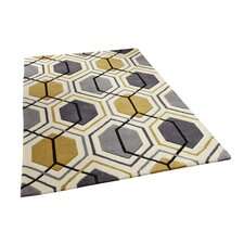 Hong Kong Hand Tufted Grey/Yellow Rug