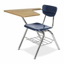 "3000 Series 30"" Plastic Tablet Arm Combo Chair Desk"