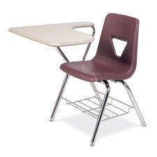 "2000 Series Plastic 18"" Tablet Arm Combo Chair Desk"