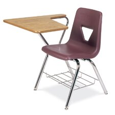"2000 Series Plastic 30"" Tablet Arm Combo Chair Desk"