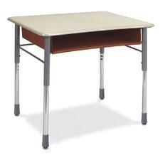 I.Q. Series Plastic Adjustable Height Open Front Desk