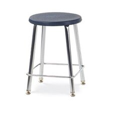 Height Adjustable Stool with Footrest (Set of 2)