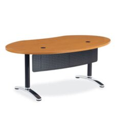 Plateau Ellipse Office Training Table with Bi-Point Leg