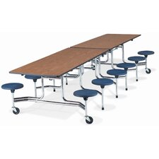 """Mobile 12"""" x 30"""" Stool Table"""