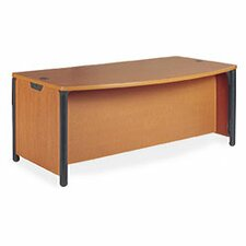 Plateau Series Office Bow Front Desk Shell