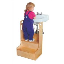 2-Step Wood Children's Step-up-n-wash Children's Step Stool
