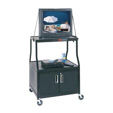 Wide-Body TV AV Cart with Cabinet