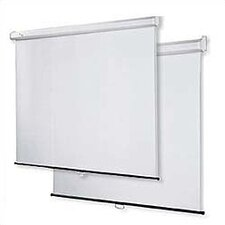 "Matte White 60"" H x 60"" W Manual Projection Screen"