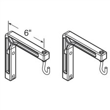 2 Wall Mount Brackets for Projection Screens