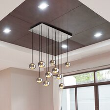 Kubric 10 Light Globe Pendant