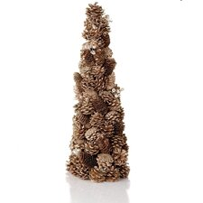 Chateau Pinecone Jewel Glittered Cone Topiary Christmas Tree