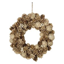 Chateau Pinecone, Jewel, and Glitter Wreath