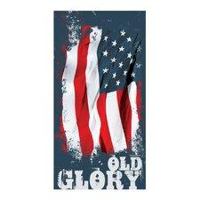 Old Glory Printed Beach Towel