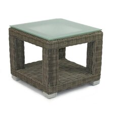 Palisades End Table Base with Tempered Glass Top