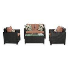 Skye Venice 4 Piece Lounge Seating Group with Cushions