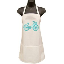 Organic Blue Bike Full Apron