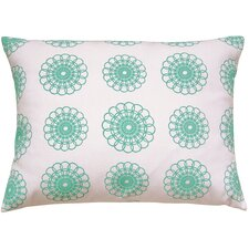 Doily All Over Pattern Block Print Accent Cotton Throw Pillow