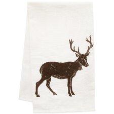 Organic Block Print Big Buck Towel
