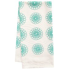 Organic Doily All Over Pattern Block Print Tea Towel