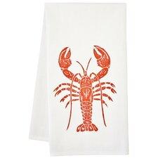 Organic Lobster Block Print Tea Towel