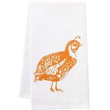 Organic Quail Block Print Kitchen Towel