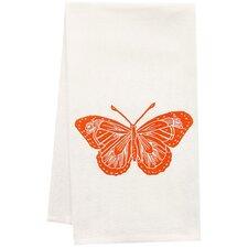 Organic Butterfly Block Print Tea Towel