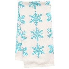 Organic Snowflake All Over Pattern Block Print Tea Towel