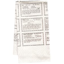 Organic Retro Recipes Entrée Tea Towel
