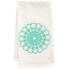 Organic Doily Block Print Tea Towel
