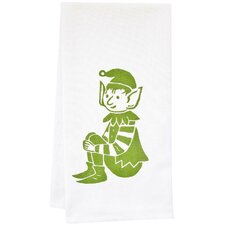 Organic Stripey Elf Tea Towel