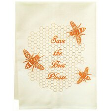 Organic Save the Bees Tea Towel