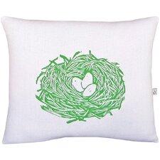 Squillow Nest Block Print Accent Cotton Throw Pillow