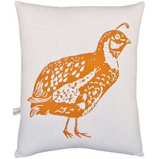 Quail Block Print Squillow Accent Cotton Throw Pillow