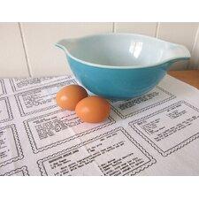 Organic Retro Recipes Dessert Tea Towel