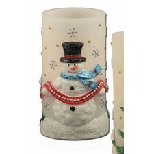 Holiday Bliss Snowman Flameless Novelty Candle