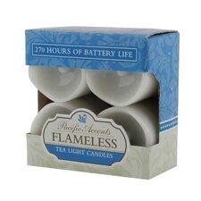 Resin Wavy Top Flameless Tea Lights Candle (Set of 4)