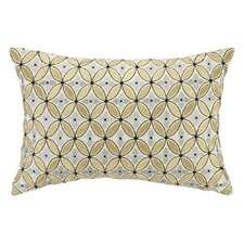 Delphinium Embroidered Decorative Linen Lumbar Pillow
