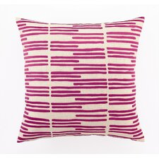 Grass Blades ed Embroidered Linen Pillow